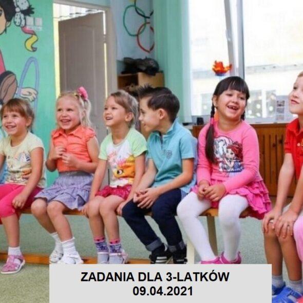 Zadania dla 3-latków - 09.04.2021