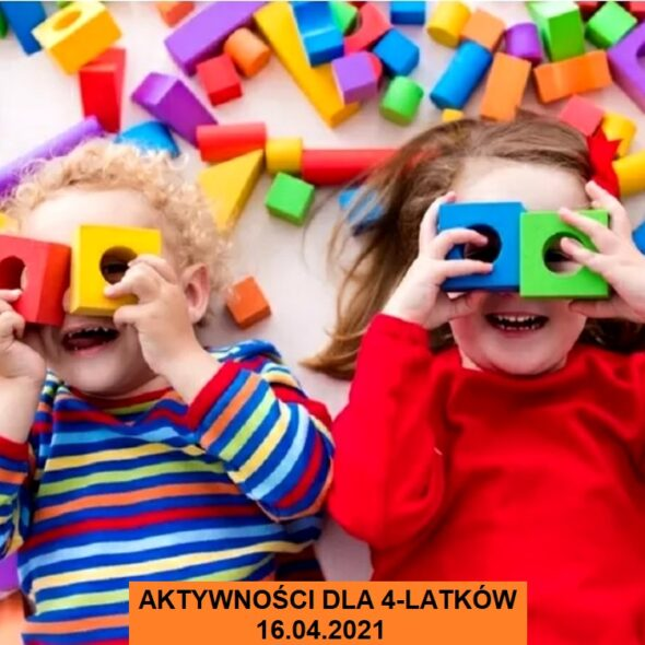 Aktywności dla 4-latki - 16.04.2021