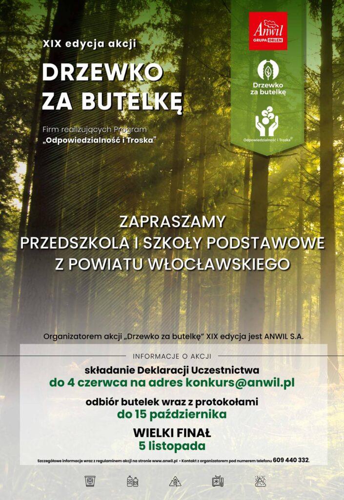 """Plakat akcji """"Drzewko za butelkę"""""""