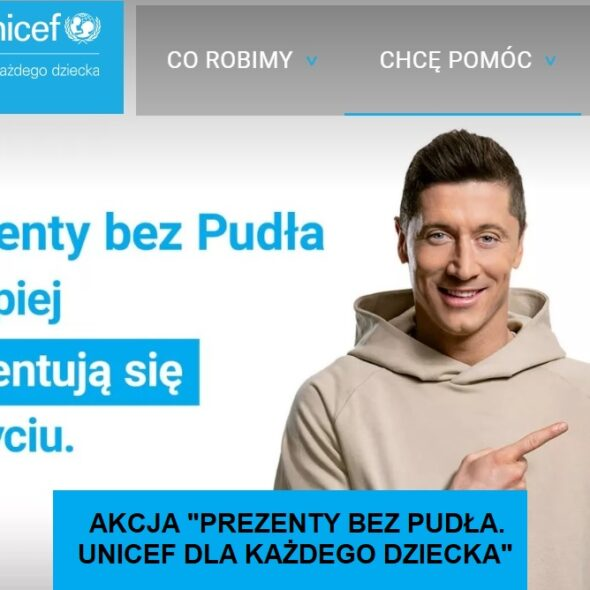"""Akcja """"Prezenty bez Pudła. UNICEF dla każdego dziecka"""""""